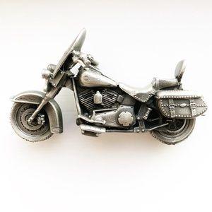 Vintage pewter Harley Davidson motorcycle model